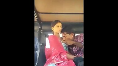 Indian Desi Haryanvi wife Sex With Lover In Car