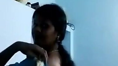 Indian tamil aunty selfie to her husband