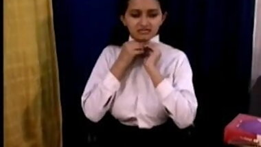 Indian school girl solo