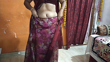 My Hot Indian aunty in a saree