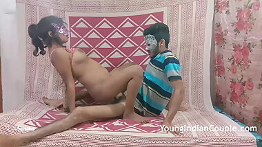 crazy young indian couple romantic love passionate fucking